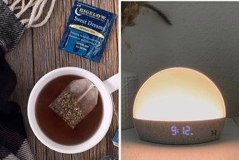 tea and nightlight