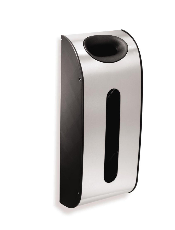 The stainless steel trash bag holder
