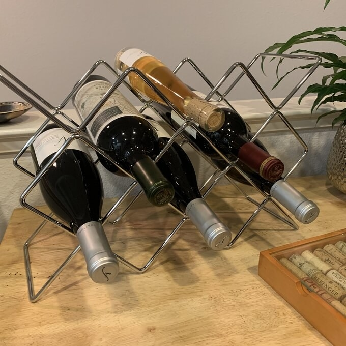 Reviewer's picture of the wine rack
