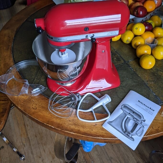 REviewer's picture of the stand mixer
