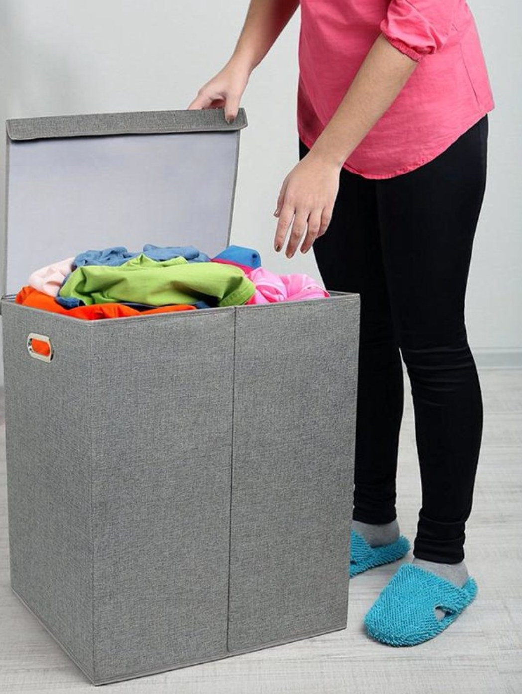 The collapsable double hamper