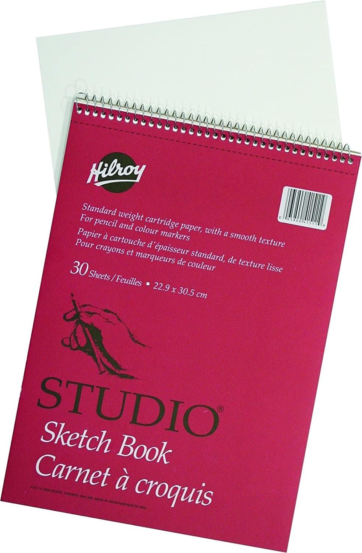 A sketchbook on a plain background