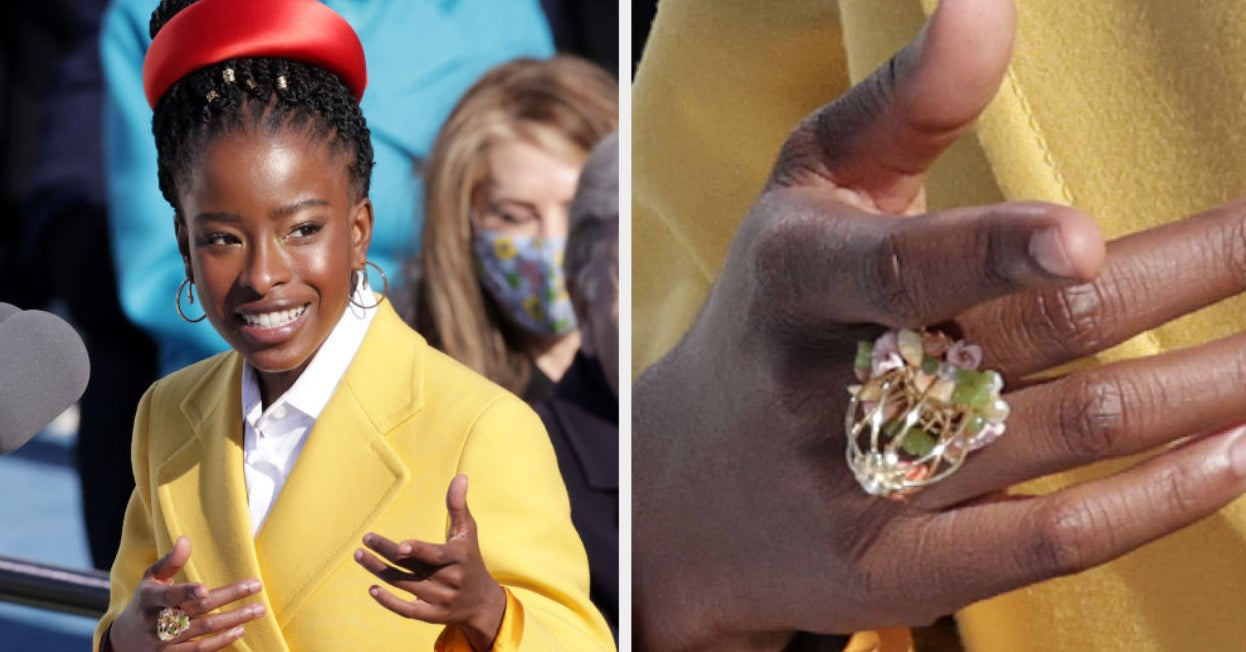 Oprah Paid Tribute To Maya Angelou By Gifting Amanda Gorman With Earrings And A Caged Bird Ring