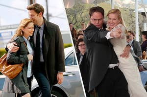 Jim and Pam versus Dwight and Angela from the office