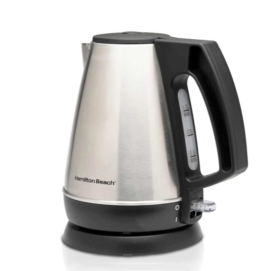 The electric tea kettle in stainless steel