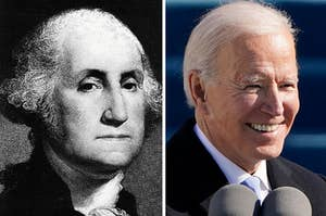 George Washington next to Joe Biden