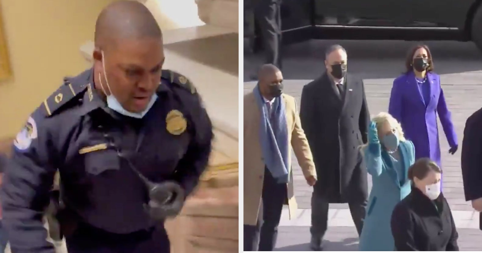 The Heroic Officer Who Defended The Capitol From A Violent Mob Escorted Kamala Harris At The Inauguration