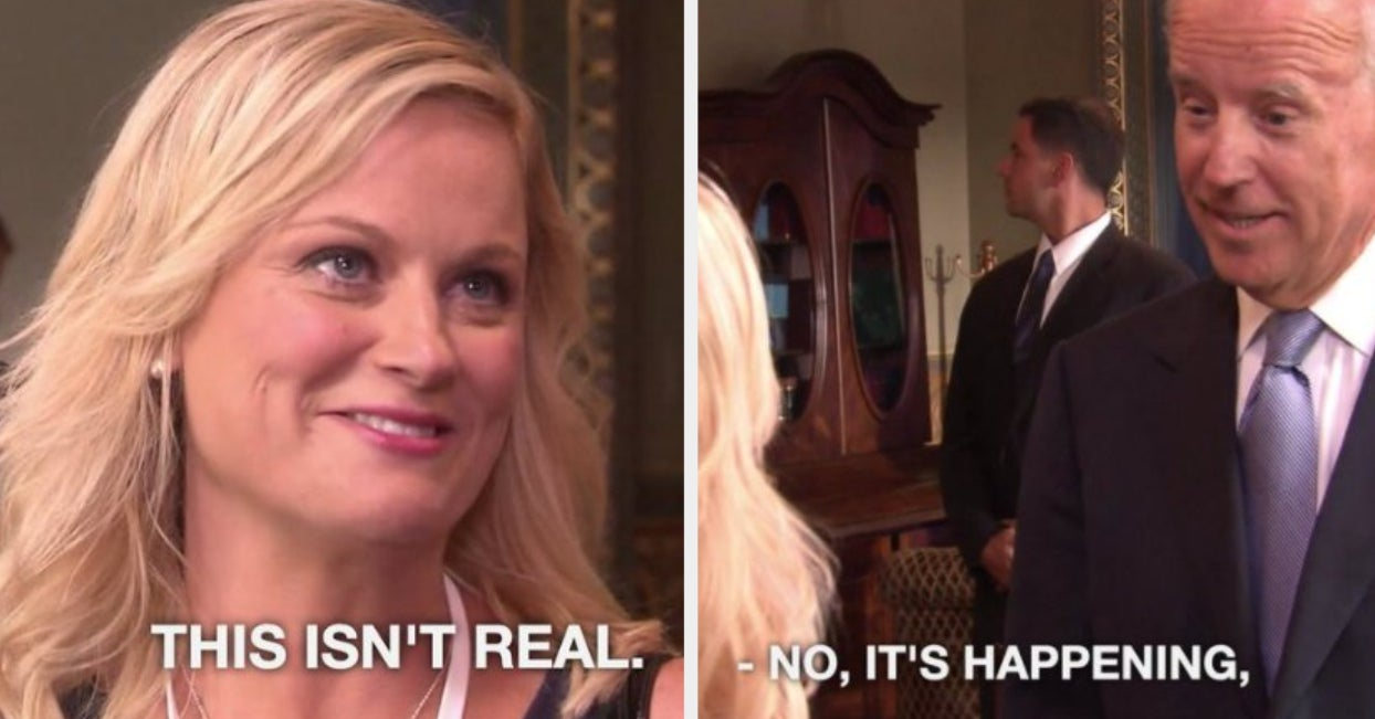 I Am *Wheezing* At All These Leslie Knope Memes In Response To Pres. Joe Biden's Inauguration