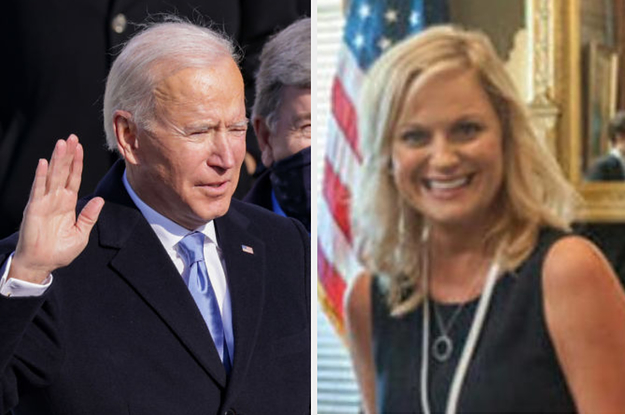 I Am *Wheezing* At All These Leslie Knope Memes In Response To Pres. Joe Bidens Inauguration