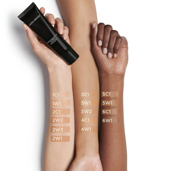 The tinted moisturizer on different skin tones