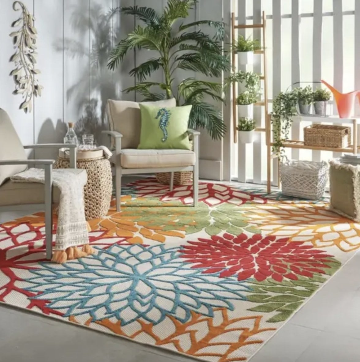 the rug in multicolor