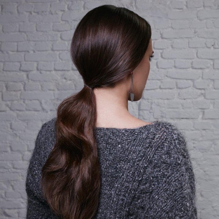 Model with frizz-free hair