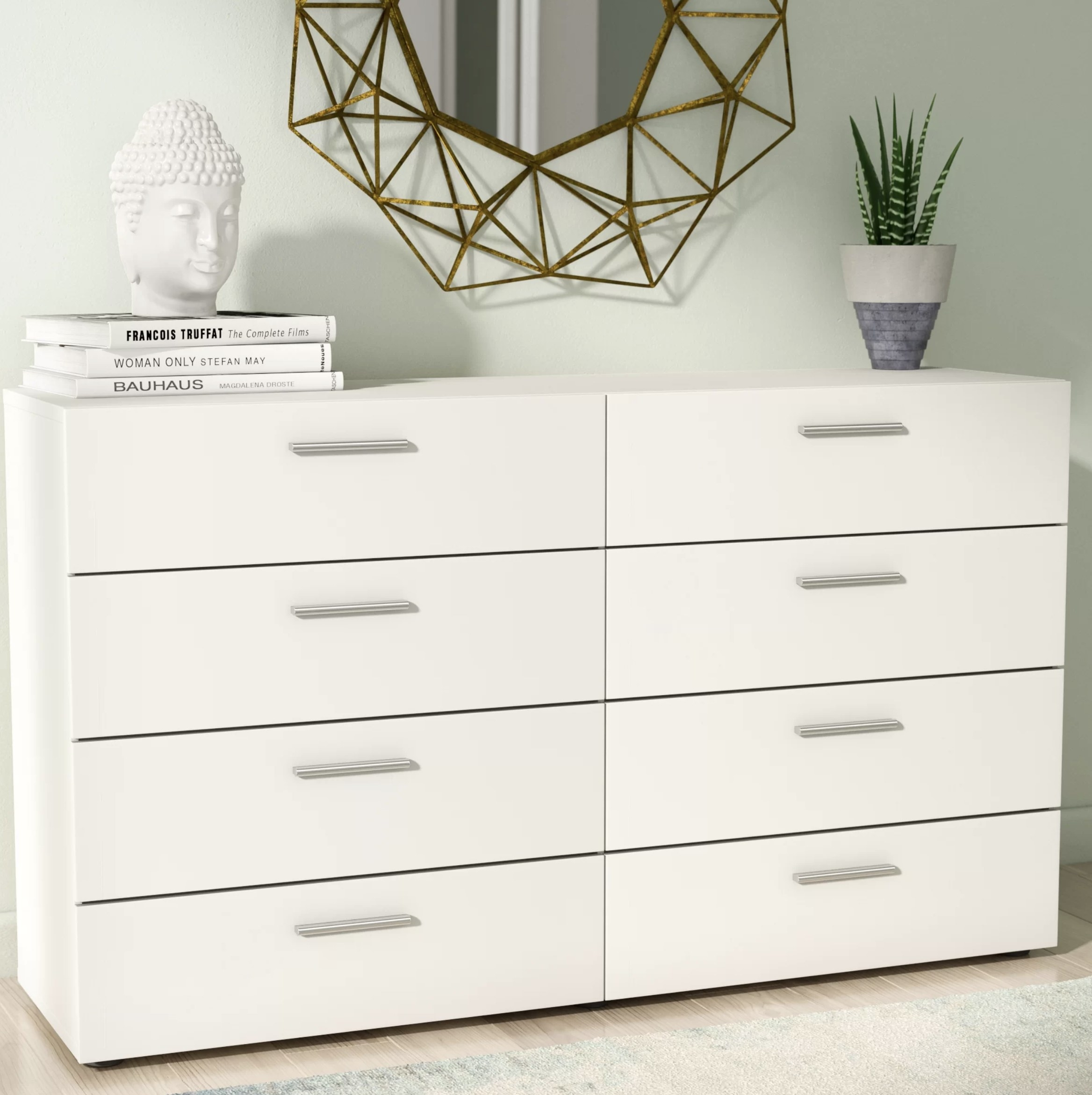 the drawers in white