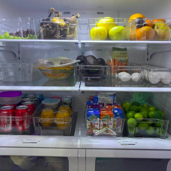 A customer review photo of their organized pantry
