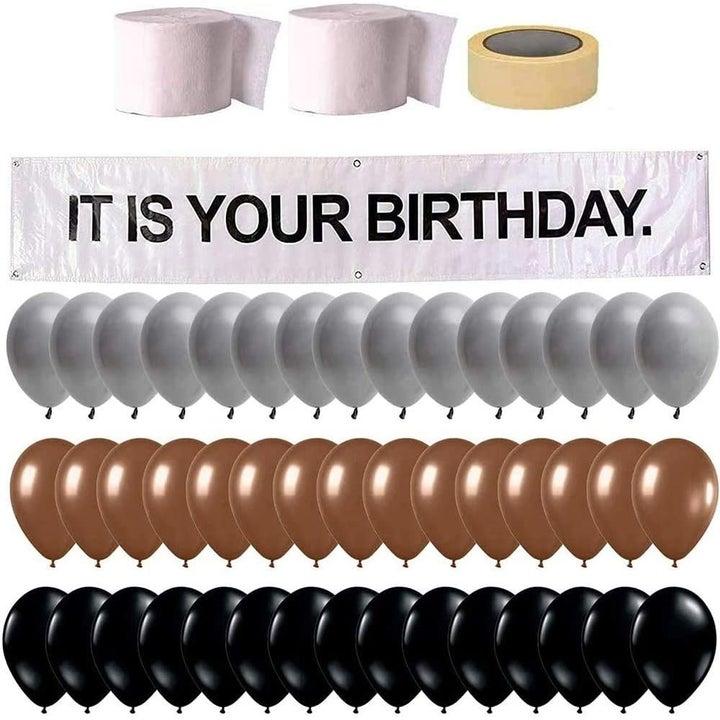 The birthday decorations kit