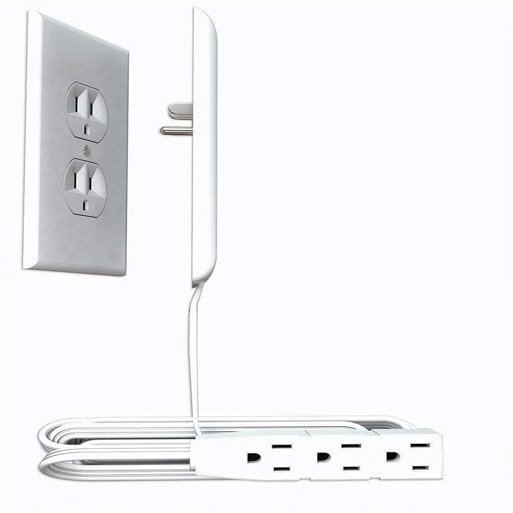 A close up of the power strip
