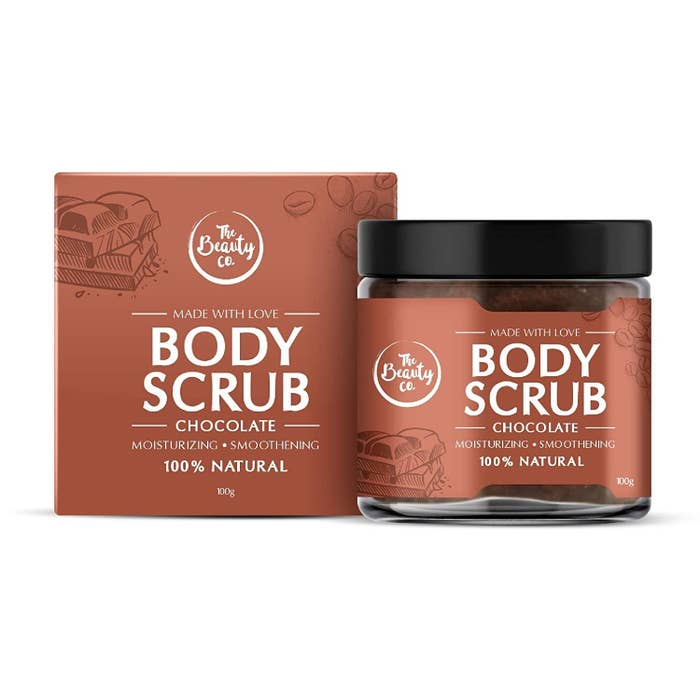 Chocolate and coffee body scrub