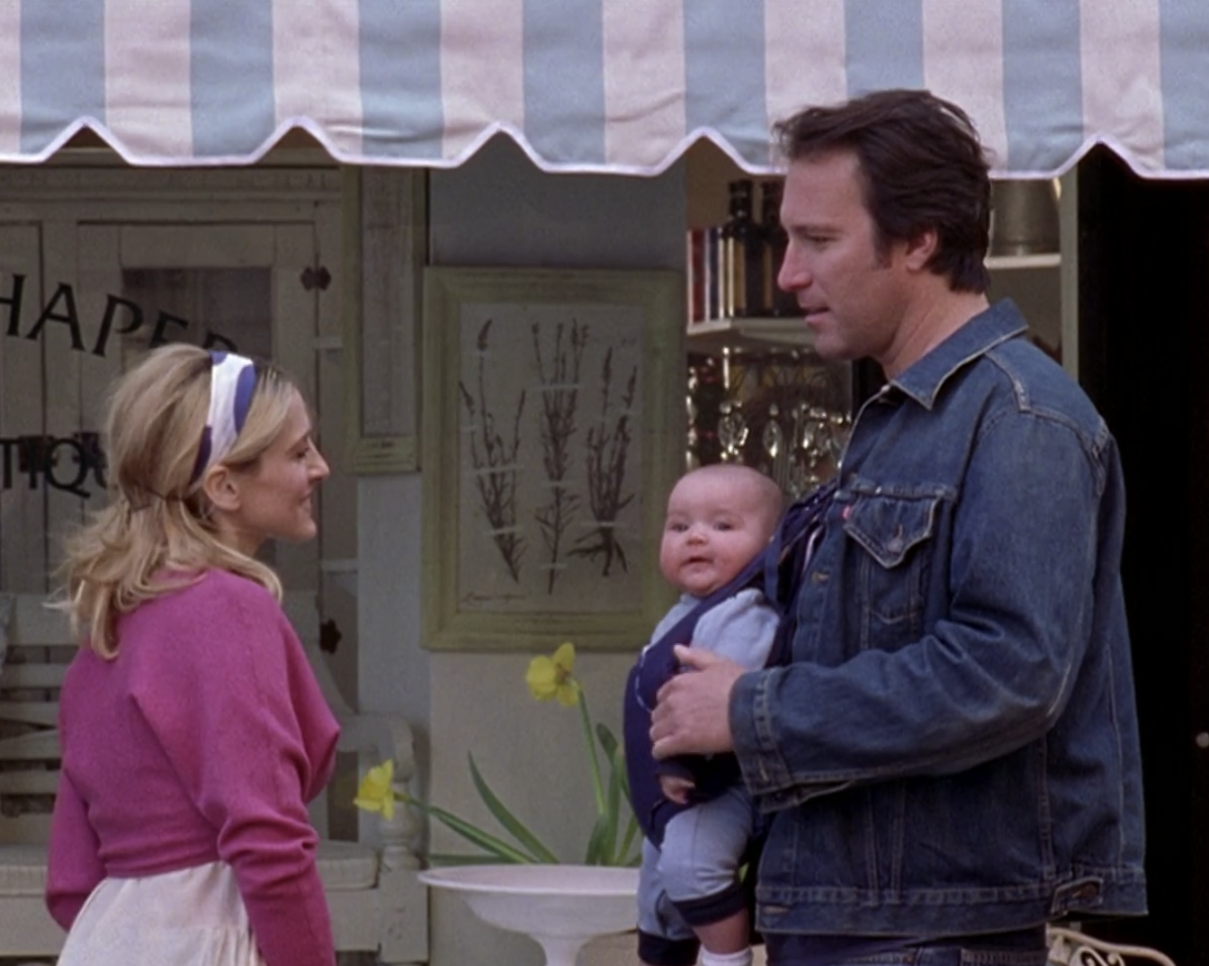 Carrie sees Aiden with a baby