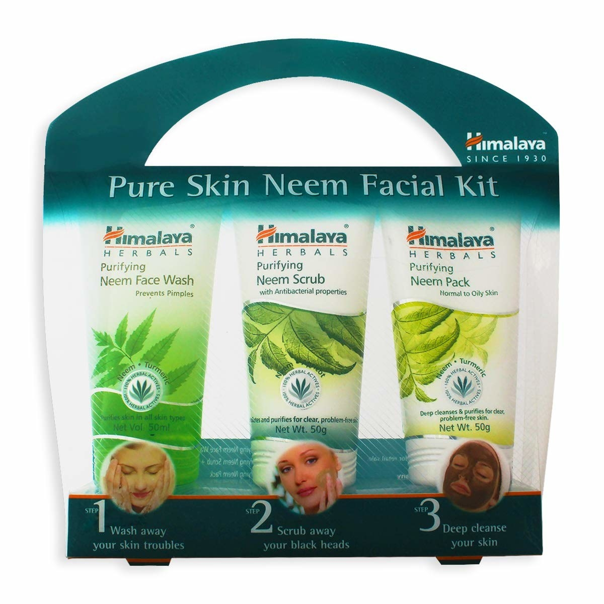 3 neem facial products in a box