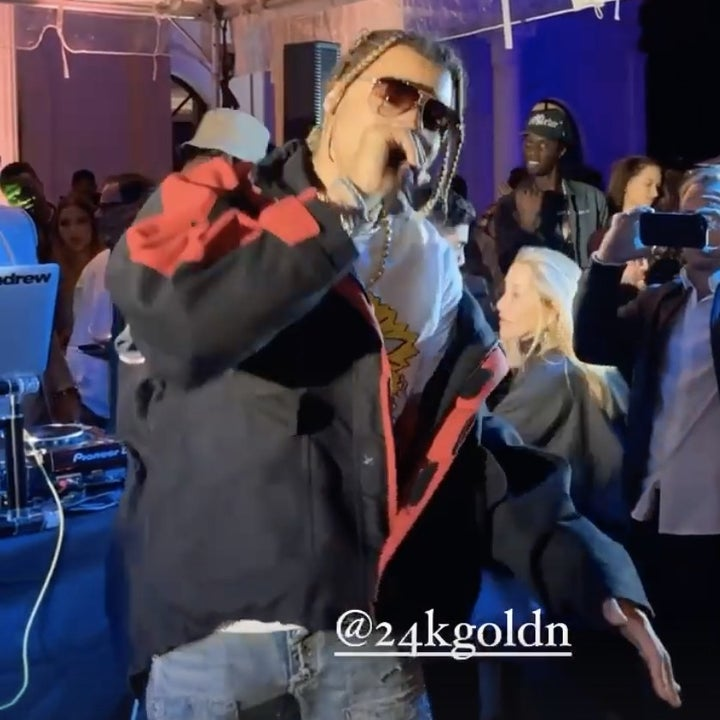 24KGoldn performing a the party