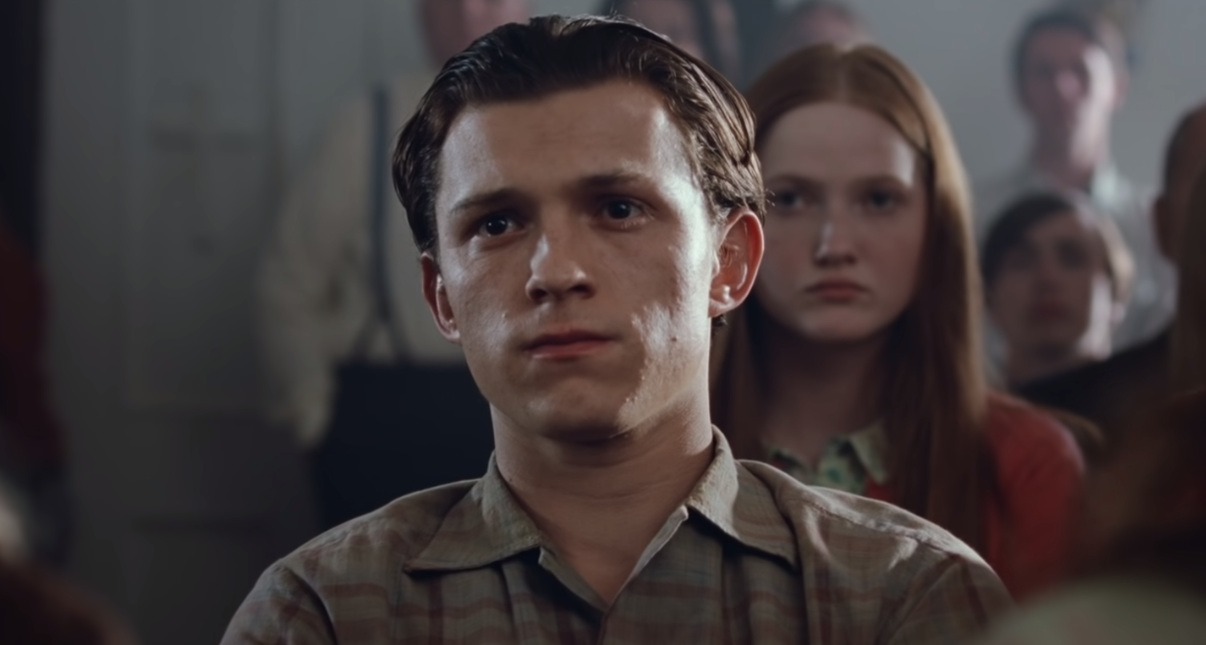 """Tom Holland as Arvin Eugene Russell in the movie """"The Devil All The Time."""""""