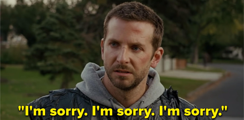 "Bradley Cooper as Patrizio ""Pat"" Solitano Jr. in the movie ""Silver Linings Playbook."""