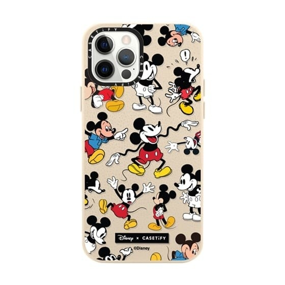 see-through case with various mickeys on it