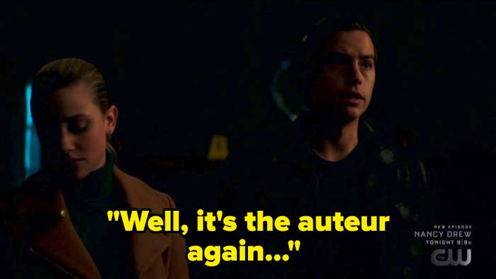 """Jughead with the quote """"well, it's the auteur again"""""""