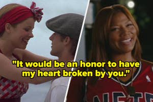 Noah and Allie from the notebook on the left, and queen latifah in
