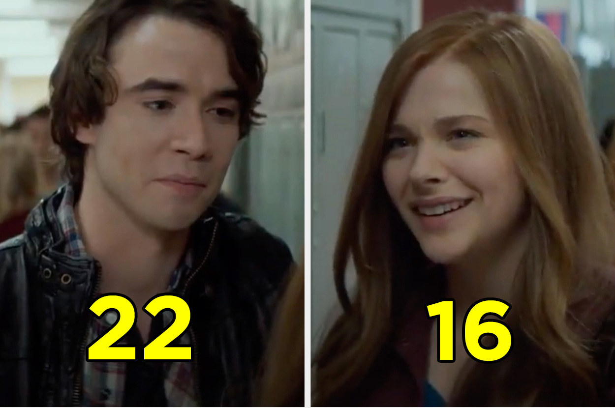 """Chloë Grace Moretz and Jamie Blackley talking at school in a scene from """"If I Stay"""""""