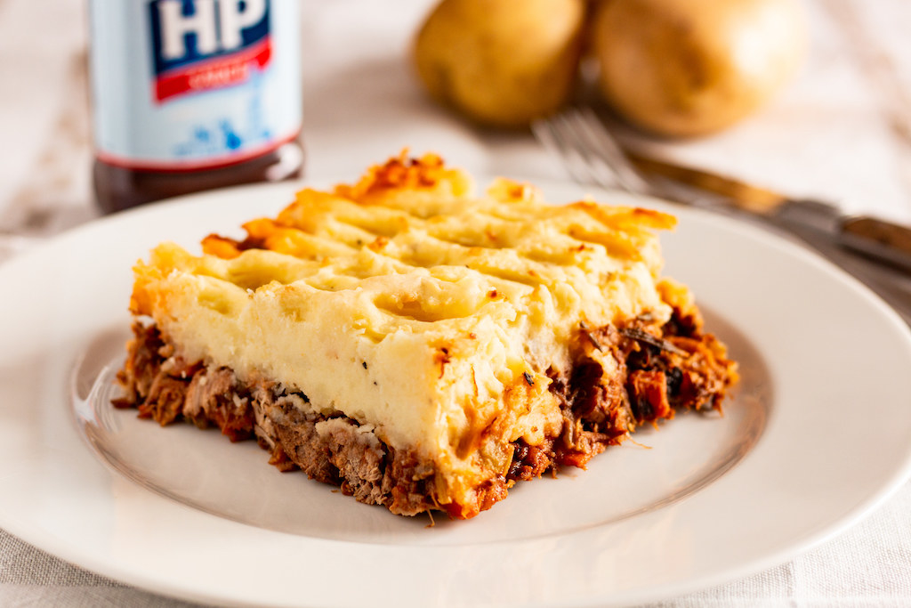 mince with potato on top.