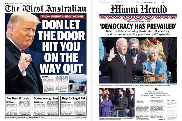 Here's How Newspapers Around The World Reacted To Joe Biden's Inauguration