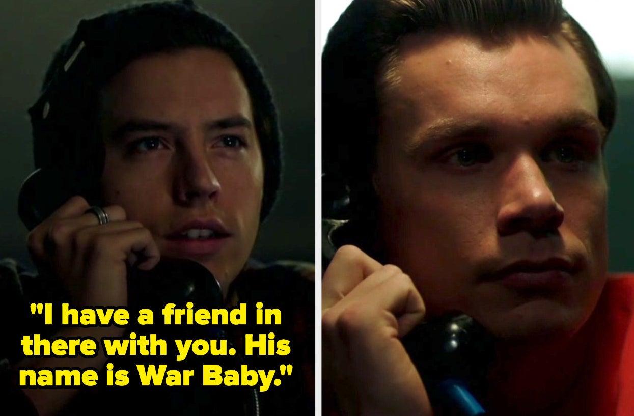 Jughead threatens Bret with War Baby
