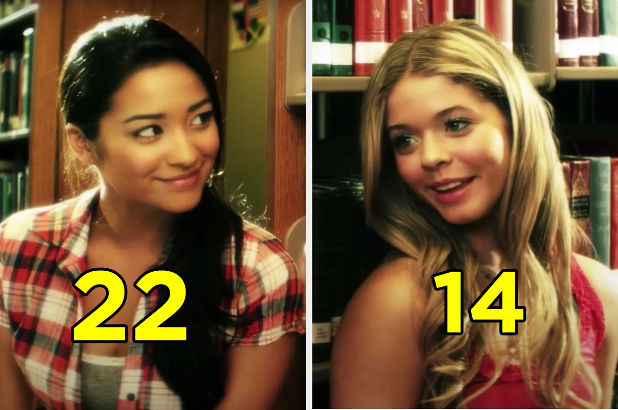 """Shay Mitchel and Saha Pieterse flirting in a scene for """"Pretty Little Liars"""""""