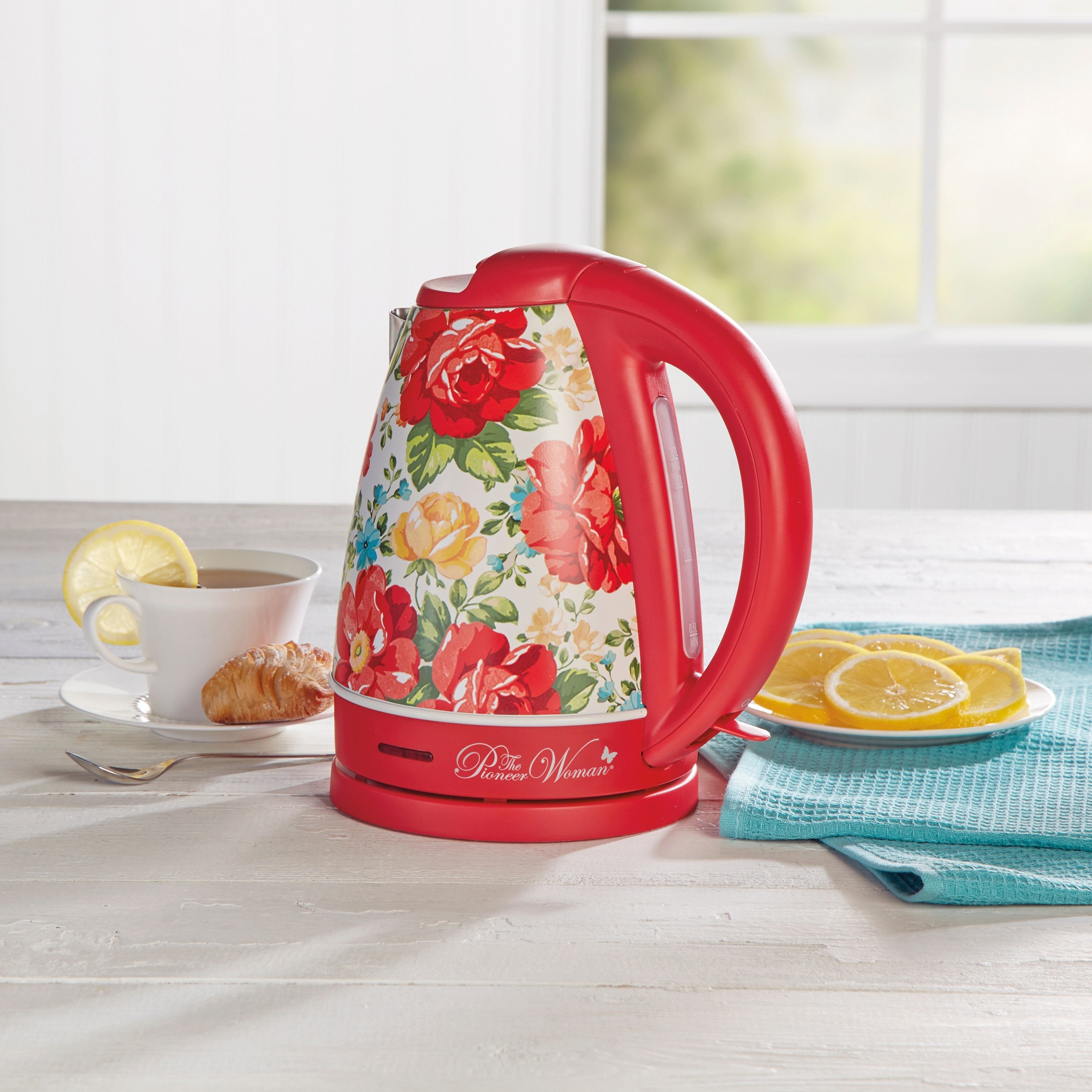 floral print pioneer woman electric kettle