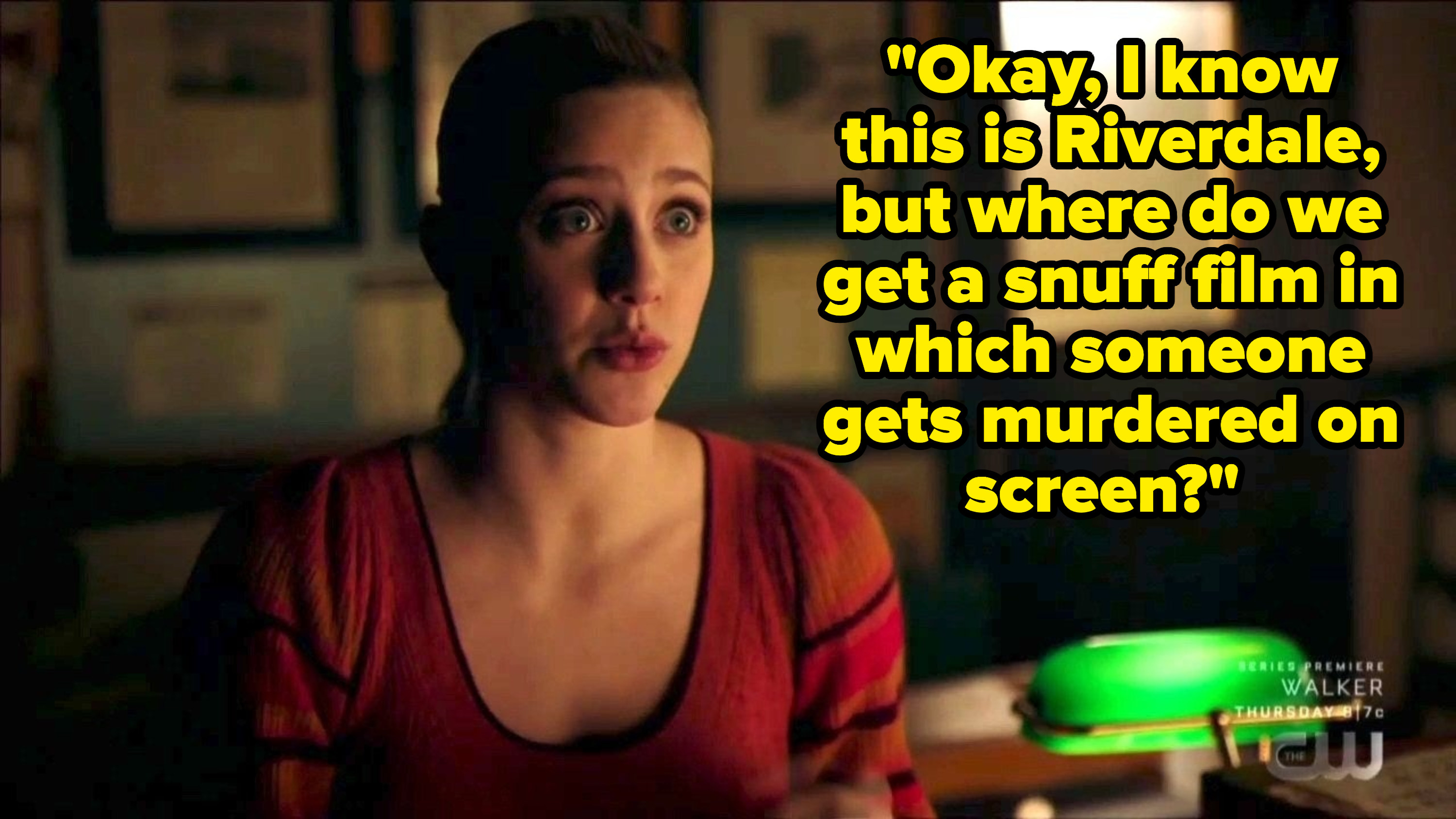 Betty asks where to get a snuff film in Riverdale