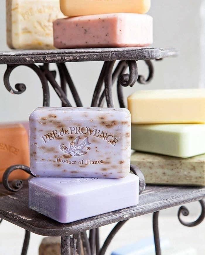 a variety of soap bars