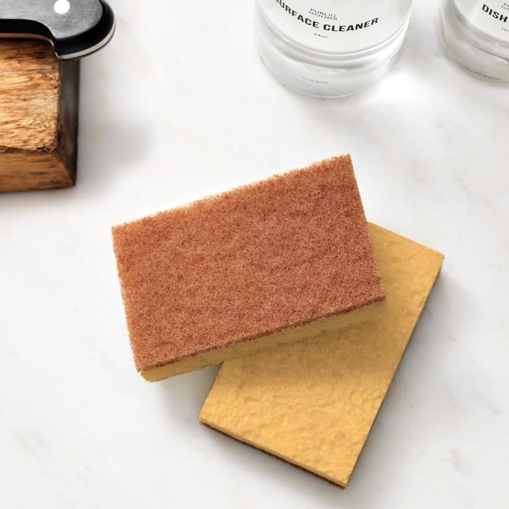 the walnut scrubber sponge