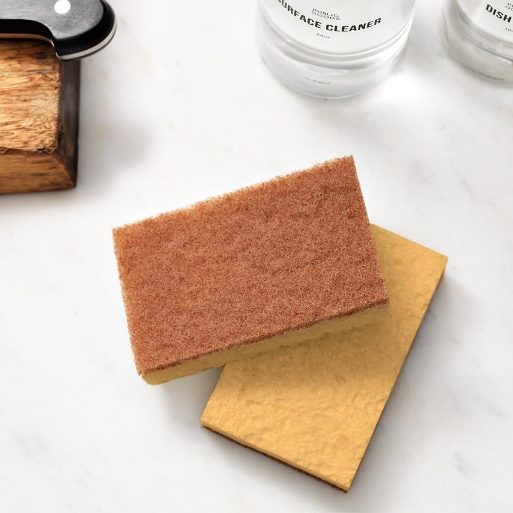 the walnut scrubber sponge