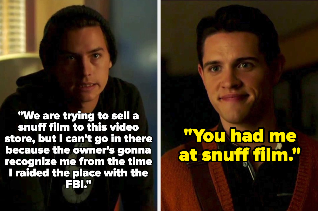 Jughead and Kevin exchange words about a snuff film