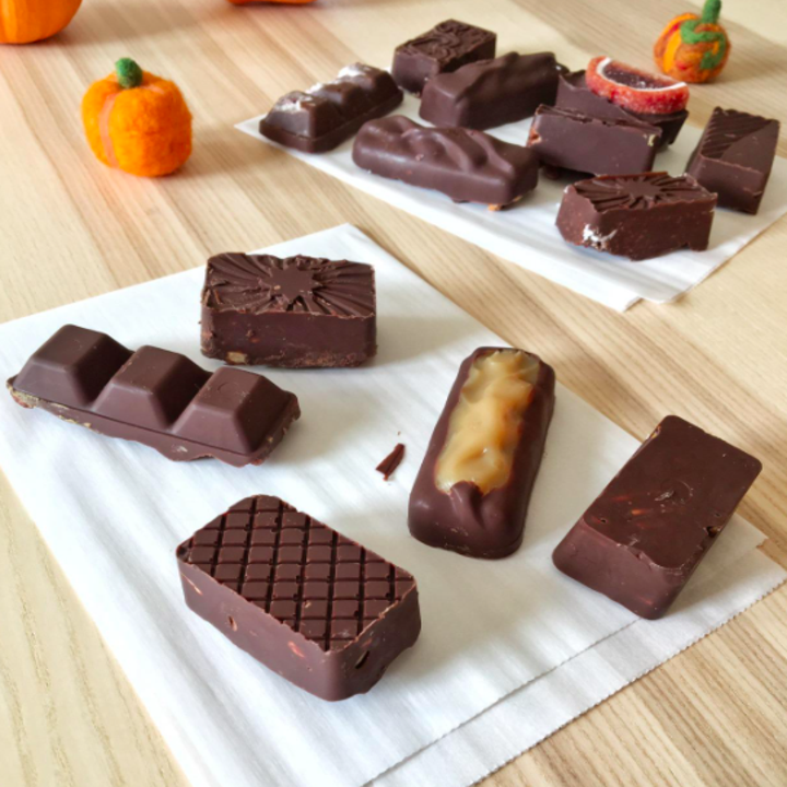 A customer review photo of completed chocolate bars