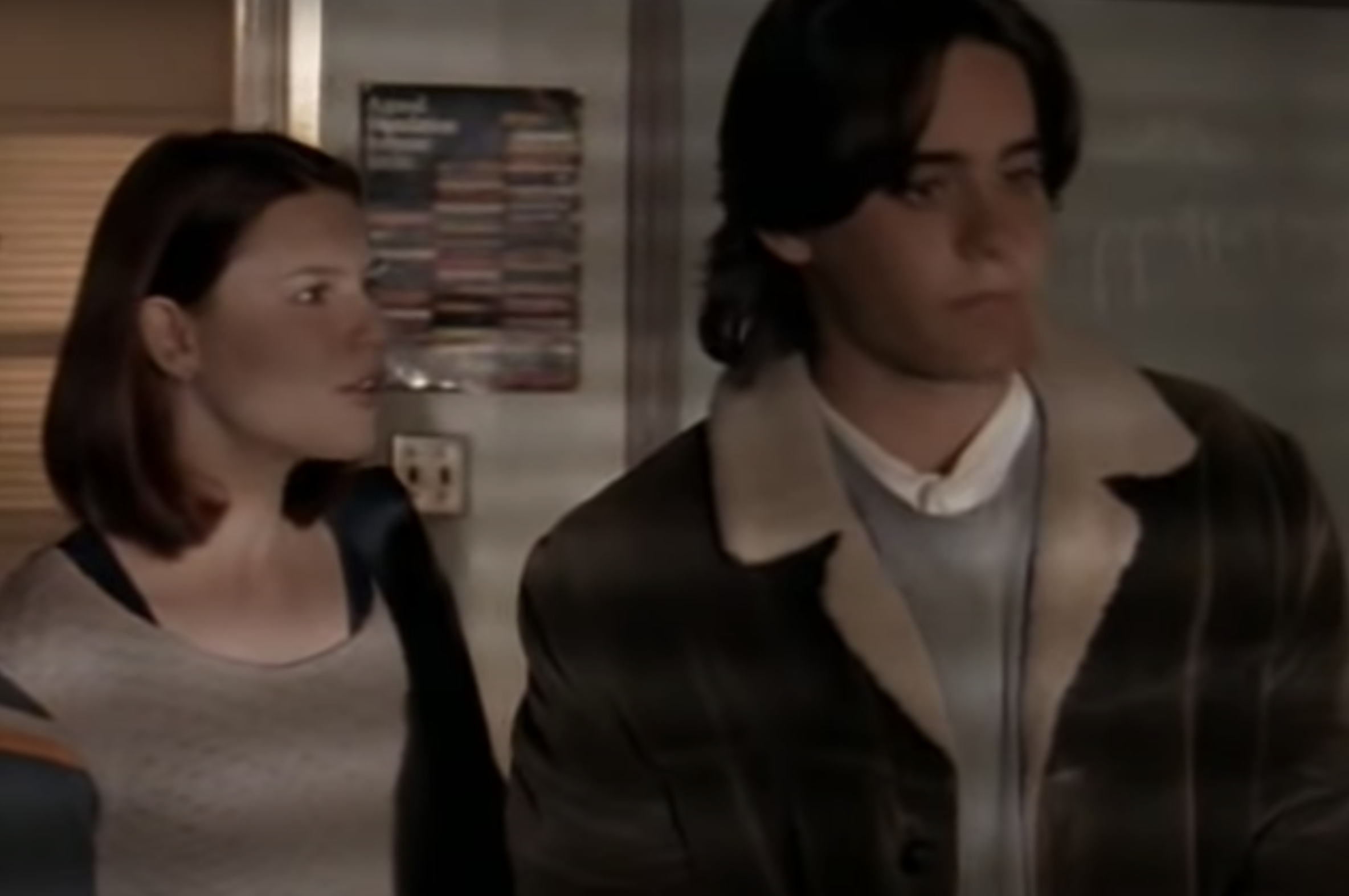 Jared Leto and Claire Danes talking in a scene from the show