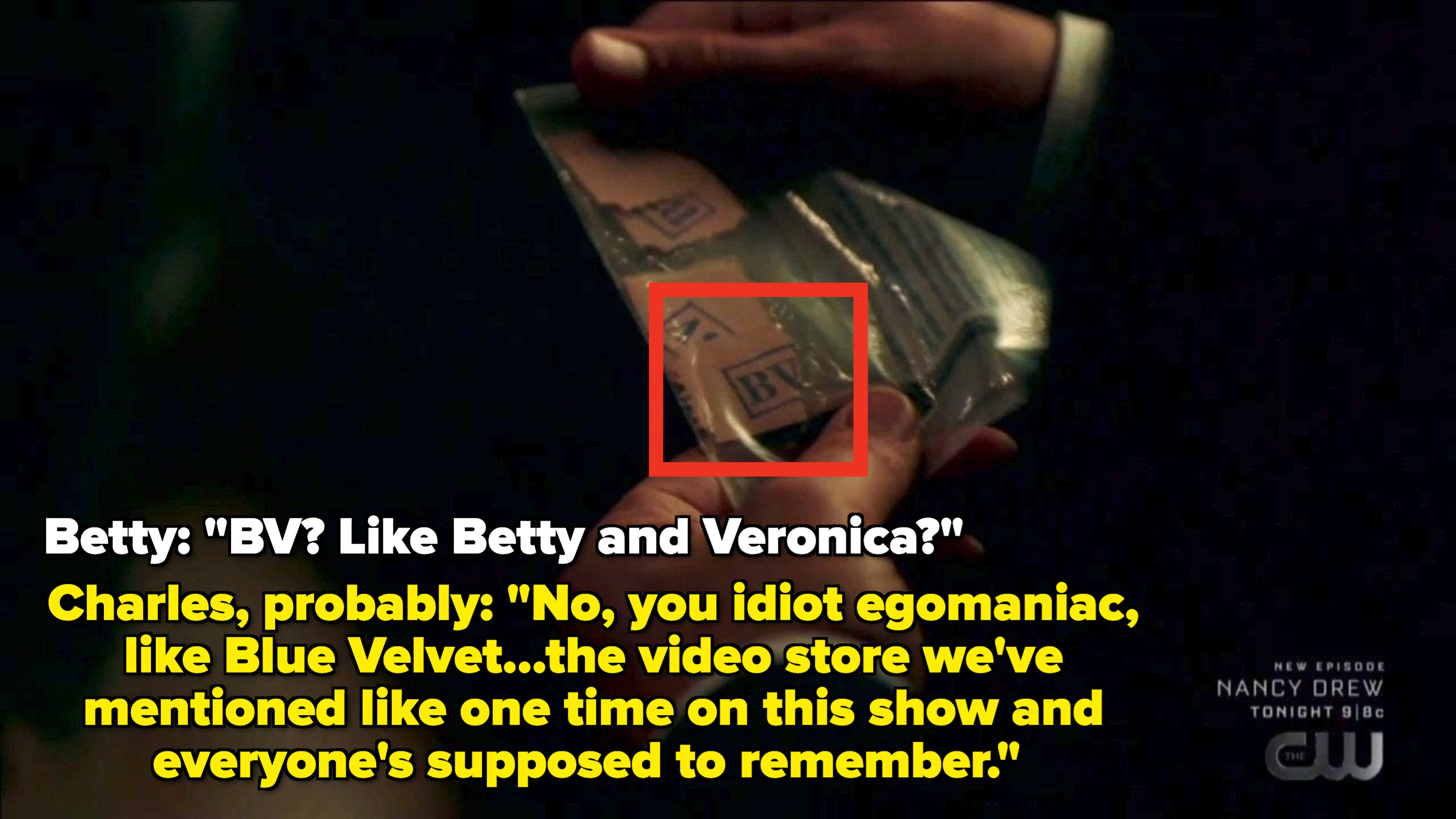 """Betty thinks BV stands for """"like betty and veronica?"""""""