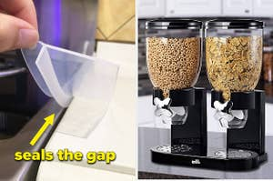 oven gap sealers and cereal dispensers