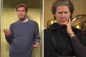 Bill Hader and Will Ferrell performing on Saturday Night Live