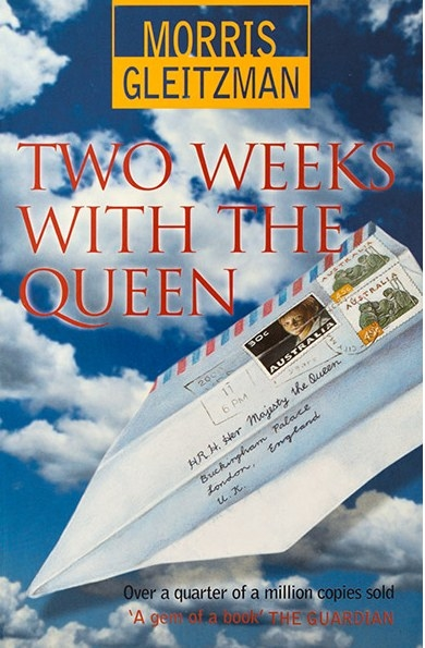 """An envelope address to """"Her Majesty the Queen"""" is folded into the shape of a paper aeroplane"""
