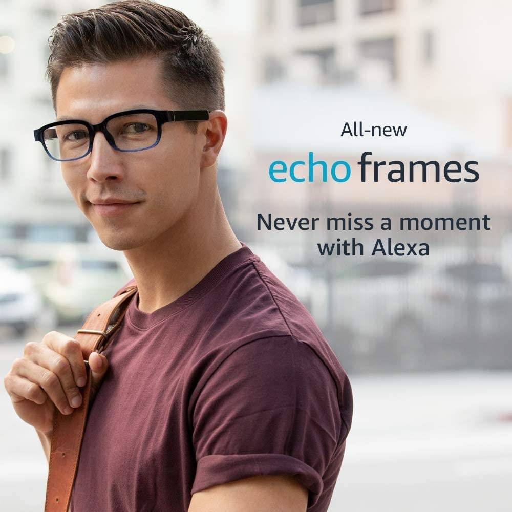 A person wearing the Echo Frames