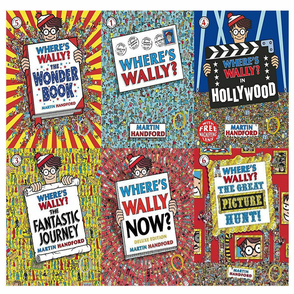 """A collection of """"Where's Wally"""" books"""