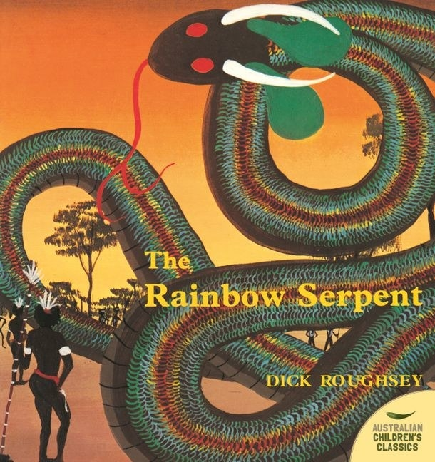 Front covers shows a serpent with rainbow scales curving its way across the book