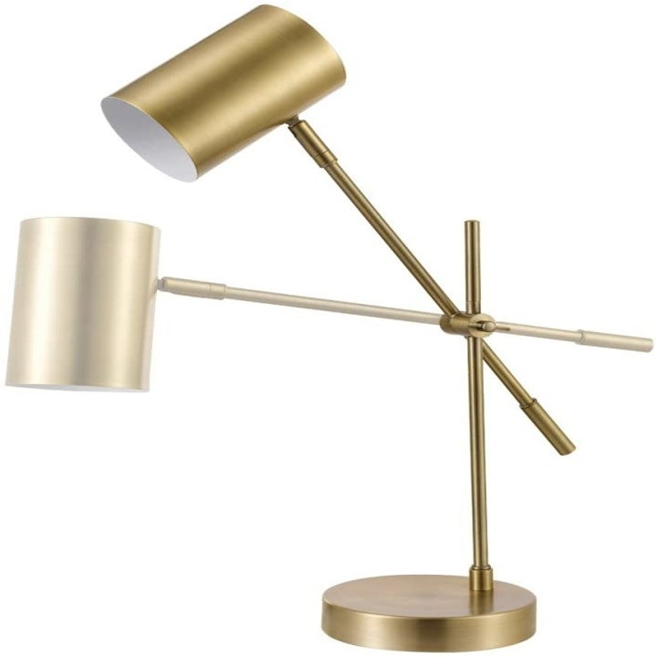 A photo showing the range in motion the lamp offers